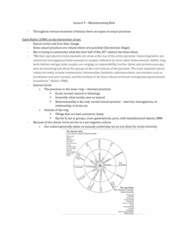 Women's Studies 2163A/B Lecture Notes - Lecture 9: Gayle Rubin, Sadomasochism, Domino Theory
