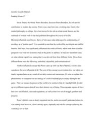 SOC 201 Lecture Notes - Lecture 7: Pierre Bourdieu, Gisselle, Combat Sport