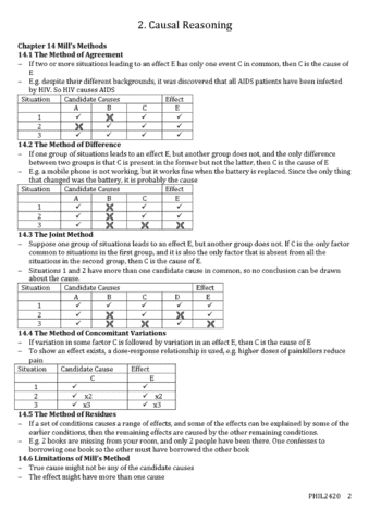 Phil2420 Lecture Notes Summer 2018 Lecture 2 Randomness Causal