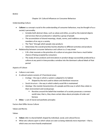 bu432 midterm View notes - chapter 5 - the self from business bu432 at wilfred laurier university chapter 5   the self self-concept o refers to the beliefs a person holds about.