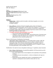 SOC 248 Lecture Notes - Lecture 1: Intersectionality, Comparative Advantage, Gisselle