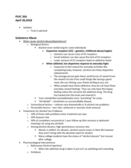 PSYC 350 Lecture Notes - Lecture 24: Opiate, Anandamide, Naltrexone