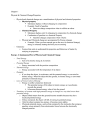 CHEM 110 Lecture Notes - Lecture 1: Chemical Change, Significant Figures, Intensive And Extensive Properties