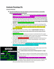 PSIO 532 Study Guide - Midterm Guide: Cardiac Muscle Cell, Calcium Channel Blocker, Afterload