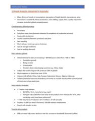 AGEN2002 Lecture Notes - Lecture 1: Cadbury Dairy Milk, Volatiles, Barramundi
