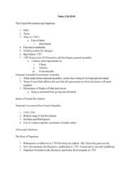 HIST 1400 Lecture Notes - Lecture 9: Tennis Court Oath, Maximilien Robespierre, Serfdom
