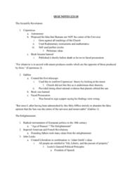 HIST 1400 Study Guide - Quiz Guide: Scientific Revolution, Montesquieu, Denis Diderot