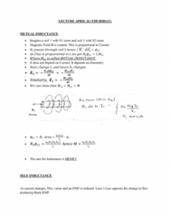 PHYS 272 Lecture Notes - Lecture 36: Inductance