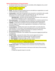BUSN1001 Study Guide - Final Guide: Current Liability, Retained Earnings, Accounts Payable
