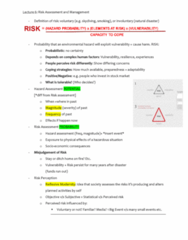 ATS1310 Lecture Notes - Lecture 5: Environmental Hazard, Parachuting, Risk Assessment