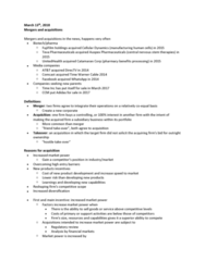CANS 406 Lecture Notes - Lecture 13: Takeover, Unitedhealth Group, Fujifilm