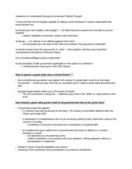POLI 2342 Lecture Notes - Lecture 2: Alexis De Tocqueville, Gettysburg Address
