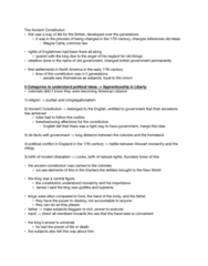 POLI 2342 Lecture Notes - Lecture 3: King James Version, Ancient Constitution Of England, Puritans