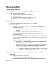 PSY100H1 Lecture Notes - Lecture 6: Blood Test, Dependent And Independent Variables, Testability