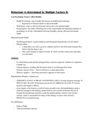 PSY100H1 Lecture Notes - Lecture 8: Cortisol, Phobia, Generalized Anxiety Disorder