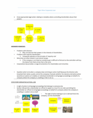 MLL221 Study Guide - Final Guide: Derivative Suit, Corporate Law, Best Interests