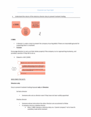 MLL221 Study Guide - Final Guide: Board Of Directors, Trading While Insolvent, De Facto