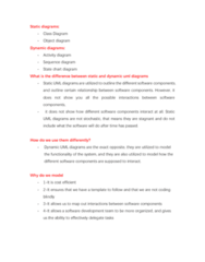 COIS 2240H Study Guide - Final Guide: Object Diagram, Activity Diagram, Sequence Diagram