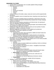 MGMT 110 Lecture Notes - Lecture 7: Masculinity, Organizational Culture, Individualism