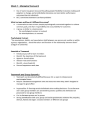 MGMT 110 Lecture Notes - Lecture 4: Meredith Belbin, Future Group, Conflict Resolution