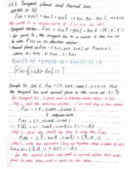 MATH 2004 Lecture 9: MATH2004 chap3.6.3 tangent plane