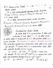 MATH 2004 Lecture 10: MATH2004 chap3.7 Conservatve Field