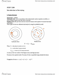 SURV1200 Lecture Notes - Lecture 1: A.C.A.B., Refraction, Sea Level