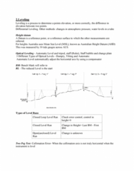 SURV1200 Lecture Notes - Lecture 2: Refraction, Sea Level