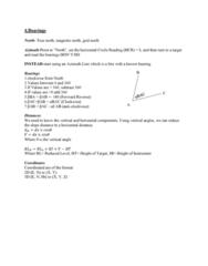 SURV1200 Lecture Notes - Lecture 4: Grid North, Theodolite, True North