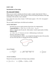 SURV1200 Lecture Notes - Lecture 10: Trapezoidal Rule, Hectare