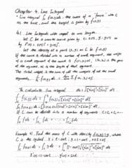 MATH 2004 Lecture 11: MATH2004 chap4.1 line integral