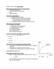 BUS 320 Lecture Notes - Lecture 6: Yield Spread, Corporate Bond, United States Treasury Security