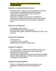 NCS1101 Lecture 7: WEEK 7 – Nursing and Midwifery Board of Australia (NMBA): Self regulating professions, relationships to personal accountability and regulated and unregulated health workers