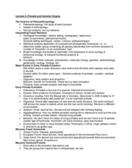 ANTA01H3 Lecture Notes - Lecture 5: Shoulder Joint, Premolar, Paranthropus Boisei