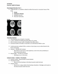 HLTH2510 Lecture Notes - Lecture 9: Motor Coordination, Dyskinesia, Substantia Nigra