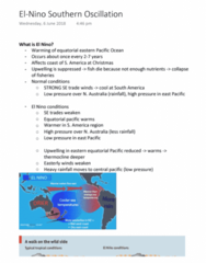 EVSC10001 Lecture Notes - Lecture 17: Upwelling, Thermocline