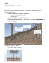 EVSC10001 Lecture Notes - Lecture 24: Regolith, Weathered, Soil Horizon