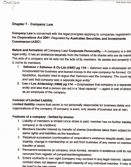 LAWS1120 Study Guide - Final Guide: Company Seal, Natural Person, No Liability