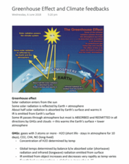 EVSC10001 Lecture 18: Greenhouse Effect and Climate feedbacks