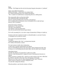 PHIL 415 Lecture Notes - Lecture 11: Definite Description, Propositional Attitude, Atomism