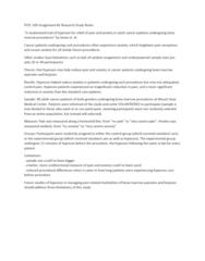 PSYC 100 Study Guide - Quiz Guide: Random Assignment
