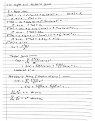 AS.110.109 Chapter 11: taylor series
