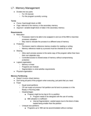 FIT2070 Lecture Notes - Lecture 7: Modular Programming, Virtual Memory, Paging