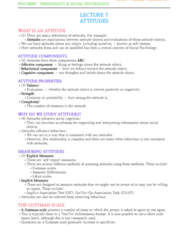 PSYC20009 Lecture Notes - Lecture 7: Guttman Scale, Implicit-Association Test, Likert Scale