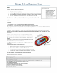 BIOL10004 Final: Biology of Cells and Organisms: Exam Notes of examinable material