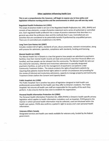 nurs-1100u-lecture-1-legislation-influencing-health-care