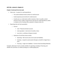 ACCT 201 Lecture Notes - Lecture 8: List Of The Shield Episodes, Cash Flow, Net Income