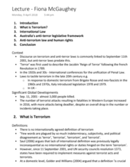 LAWS1111 Lecture Notes - Lecture 6: Red Brigades, United Nations Security Council Resolution 1373, International Human Rights Law