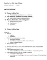 LAWS1111 Lecture Notes - Lecture 9: Moral Panic, Rock And Roll, Ball Tampering