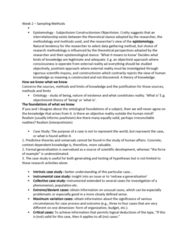 MULT20003 Lecture Notes - Lecture 2: Instrumental Case, External Validity, Construct Validity